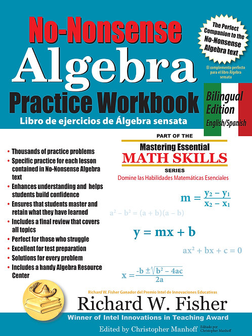 No-Nonsense Algebra Practice Workbook  Bilingual version