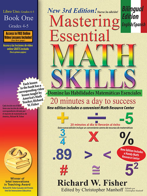 Mastering Essential Math Skills Book 1, Bilingual  Edition