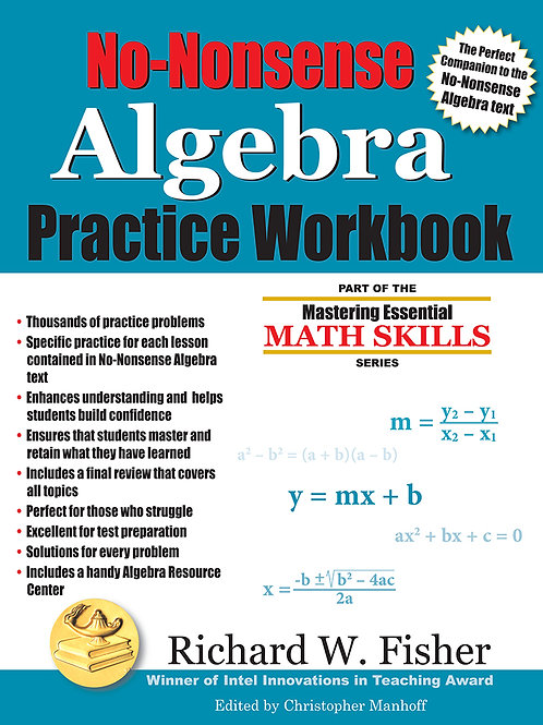 No-Nonsense Algebra Practice Workbook