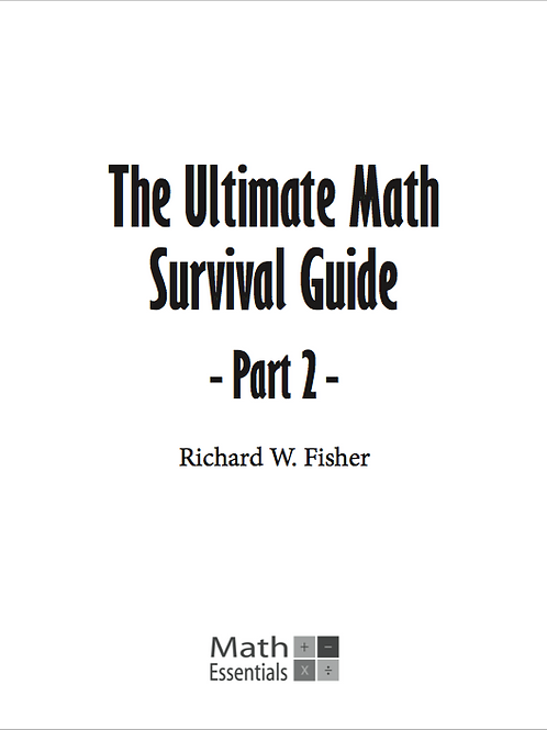 The Ultimate Math Survival Guide Part 2 Digital