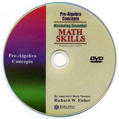 Pre-Algebra Concepts DVD only