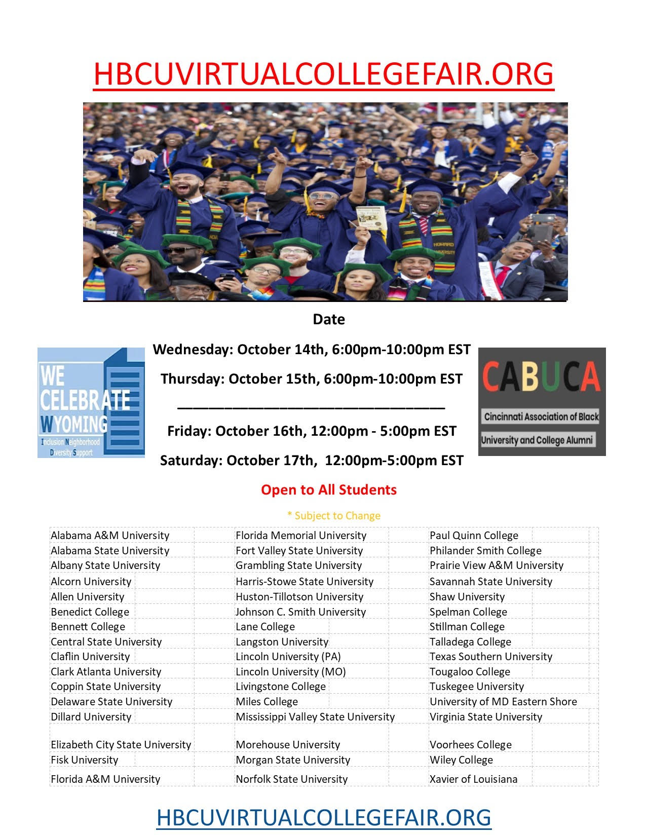 hbcu college fair flyer