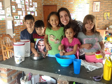 Alicia, em missão no Honduras