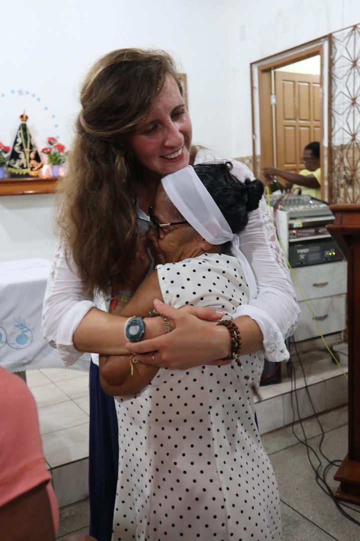 Karolina, voluntária da Polônia