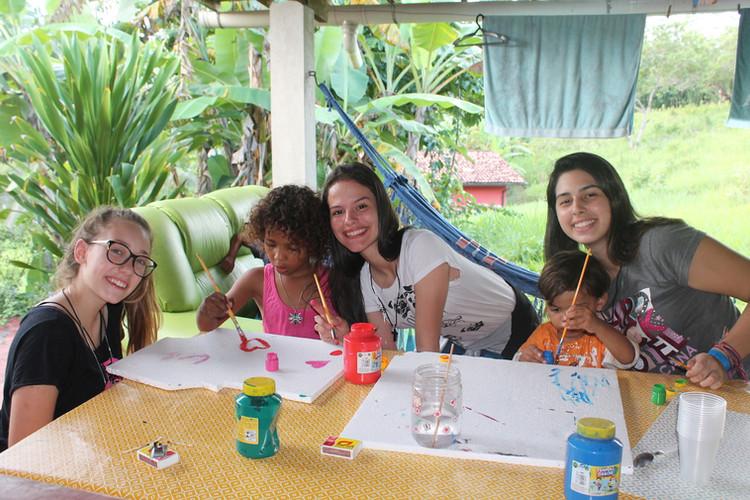 Pintura com as crianças