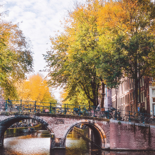Amsterdam canal in Autumn
