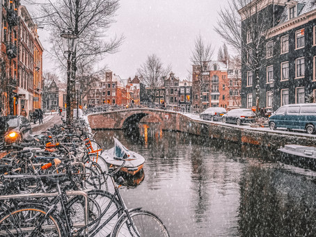 Amsterdam under the snow