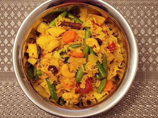 Make delicious vegetable/vegan Biryani