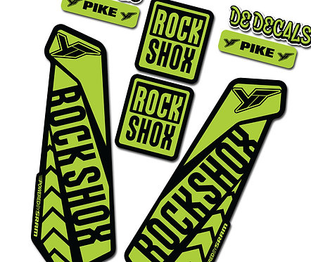 Rockshox Pike Custom Fork decals and Stickers