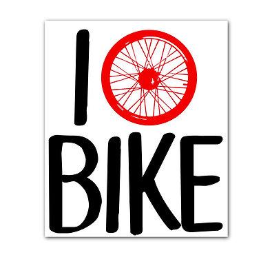 I Bike Sticker