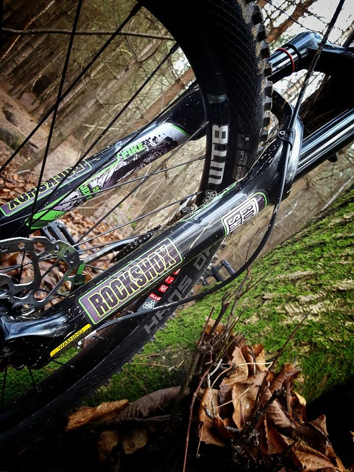 Cannondale rockshox pike custom fork decals
