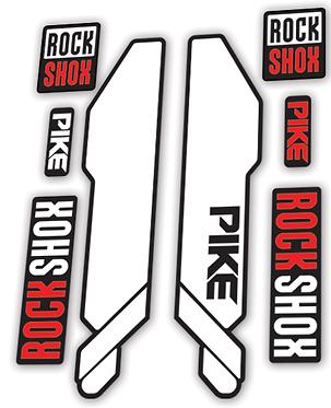 Rockshox Pike 2014 Fork Decals Plain