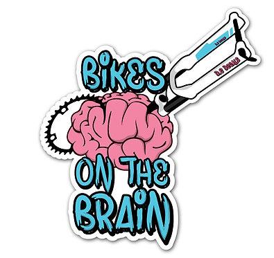 Bikes on the Brain Sticker
