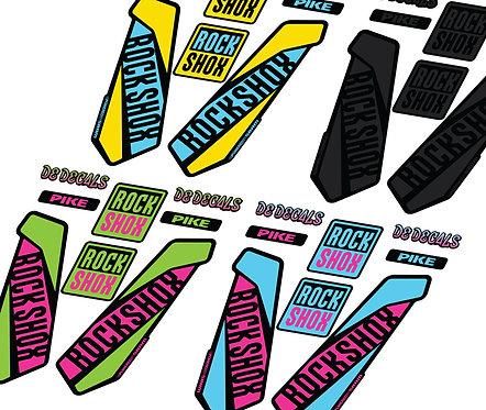 Rockshox Pike Custom Fork decals and Stickers, Santa Cruz edition