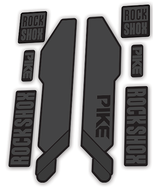 Rockshox Pike 2014 Fork Decals Stealth