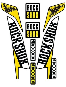Rockshox Boxxer Custom Fork decals and Stickers
