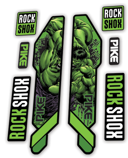 Rockshox Pike 2014 Hulk Edition Dedecals Mountain Bike