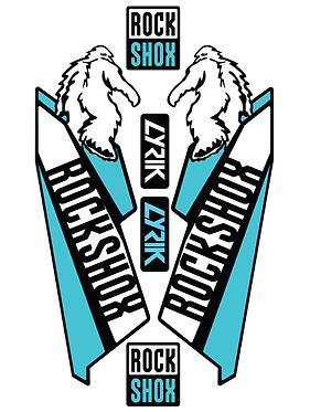 Rockshox Lyric Custom Fork decals and Stickers
