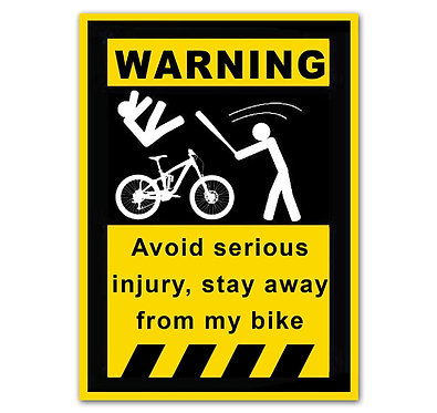Warning Avoid Serious injury Sticker