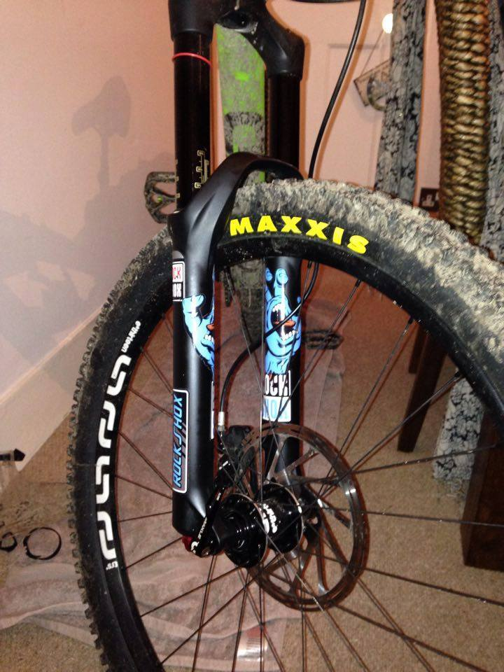 Custom santa cruz hand rockshox pike decals