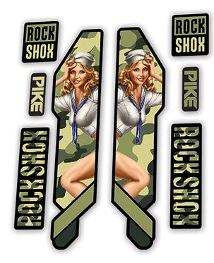 Rockshox Pike 2014 Army Pin Up