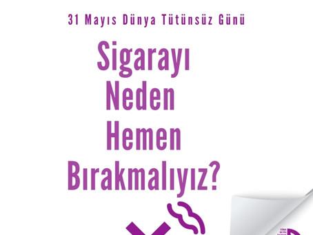 """Türk Beyin Damar Hastalıkları Derneği """"Sigaraya Hayır"""" Demeye Çağırıyor"""