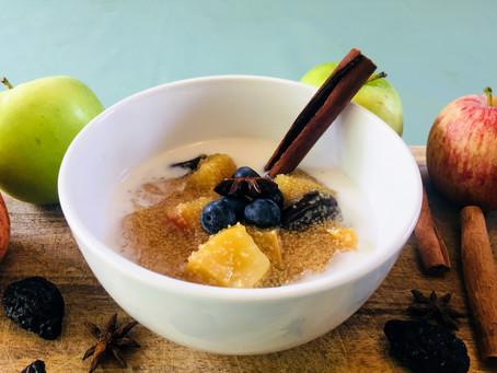 Amaranth, Apple and Date Porridge