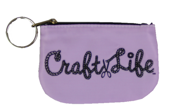 Pink Coin Purse with Key Ring