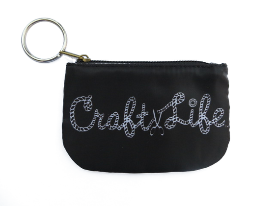 Black Coin Purse with Key Ring