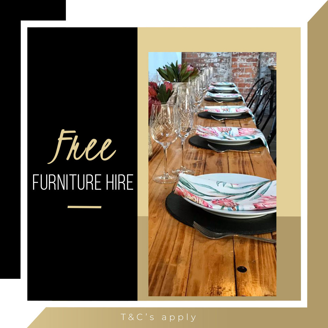 Free furniture hire