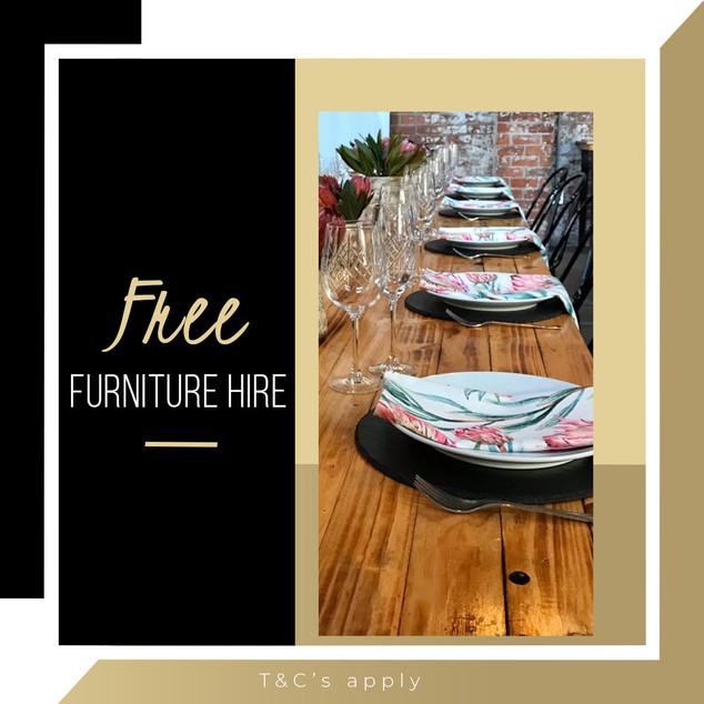 Free furniture hire