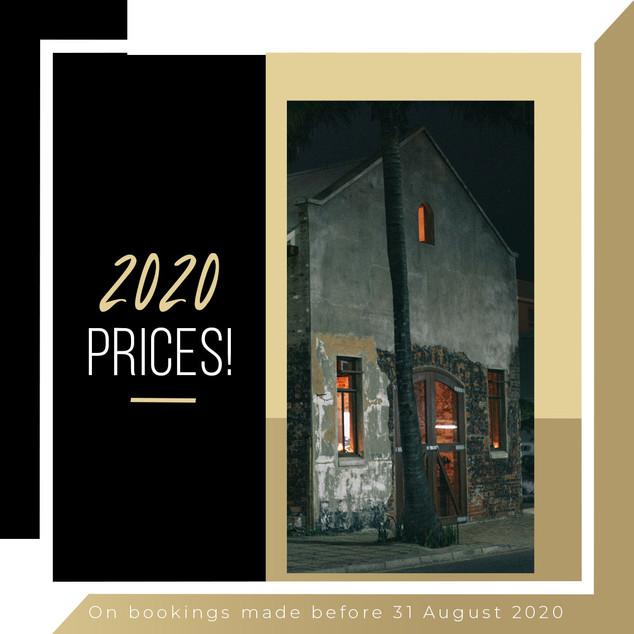 2020 Prices