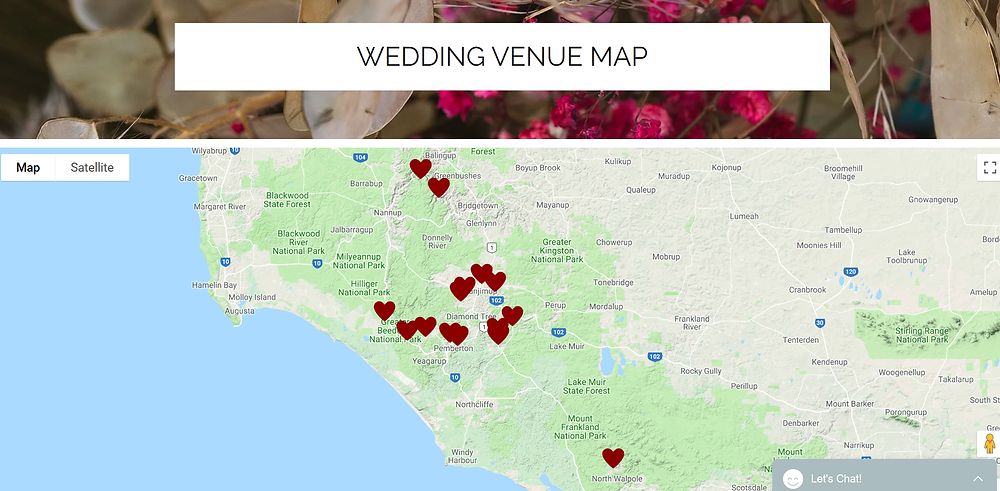 Southern Forests Weddings Venues in Walpole, Pemberton, Manjimup, Bridgetown, Balingup, Nannup