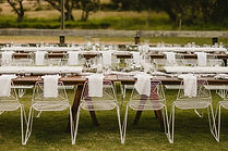 White wire chairs and timber tables 7.jp