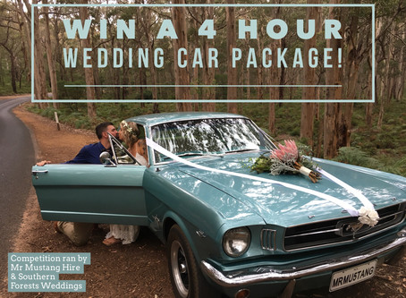 WIN A 4 HOUR WEDDING CAR PACKAGE IN A 1965 MUSTANG!