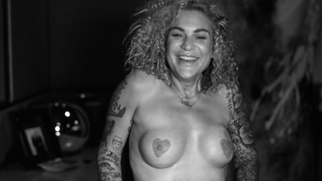 Heart-shaped nipples.