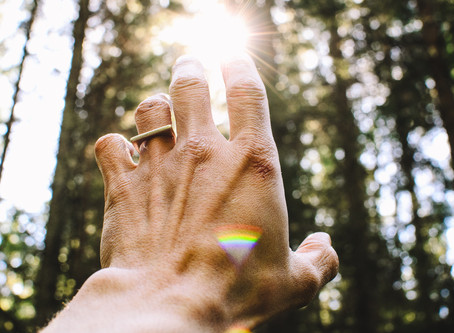'Creativity is God energy flowing through us, like light flowing through a crystal prism.'