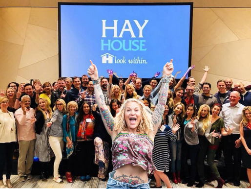 This is a photo of every brilliant Hay House author there is.