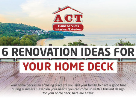 6 Renovation Ideas for Your Home Deck