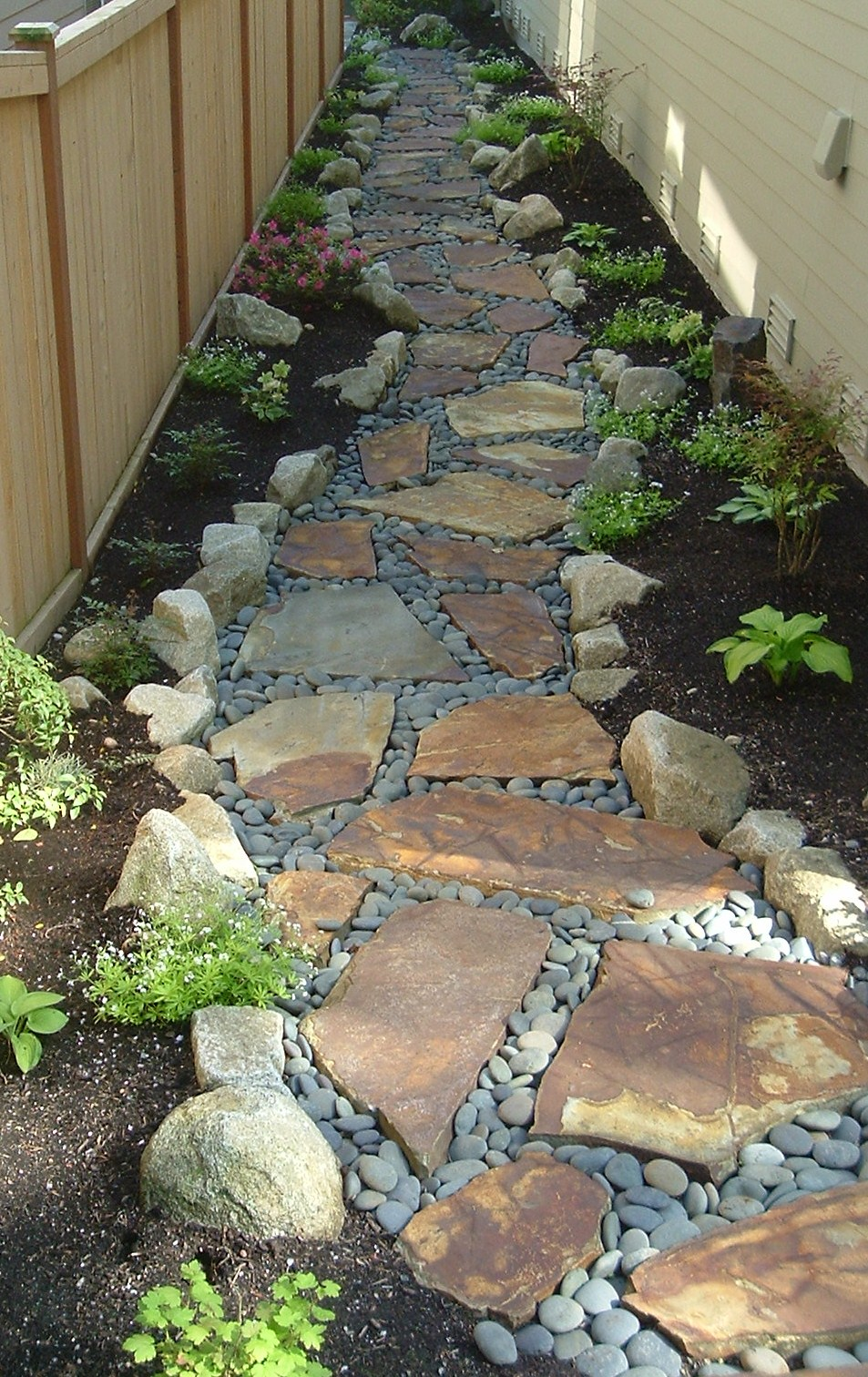 Custom path with flagstone
