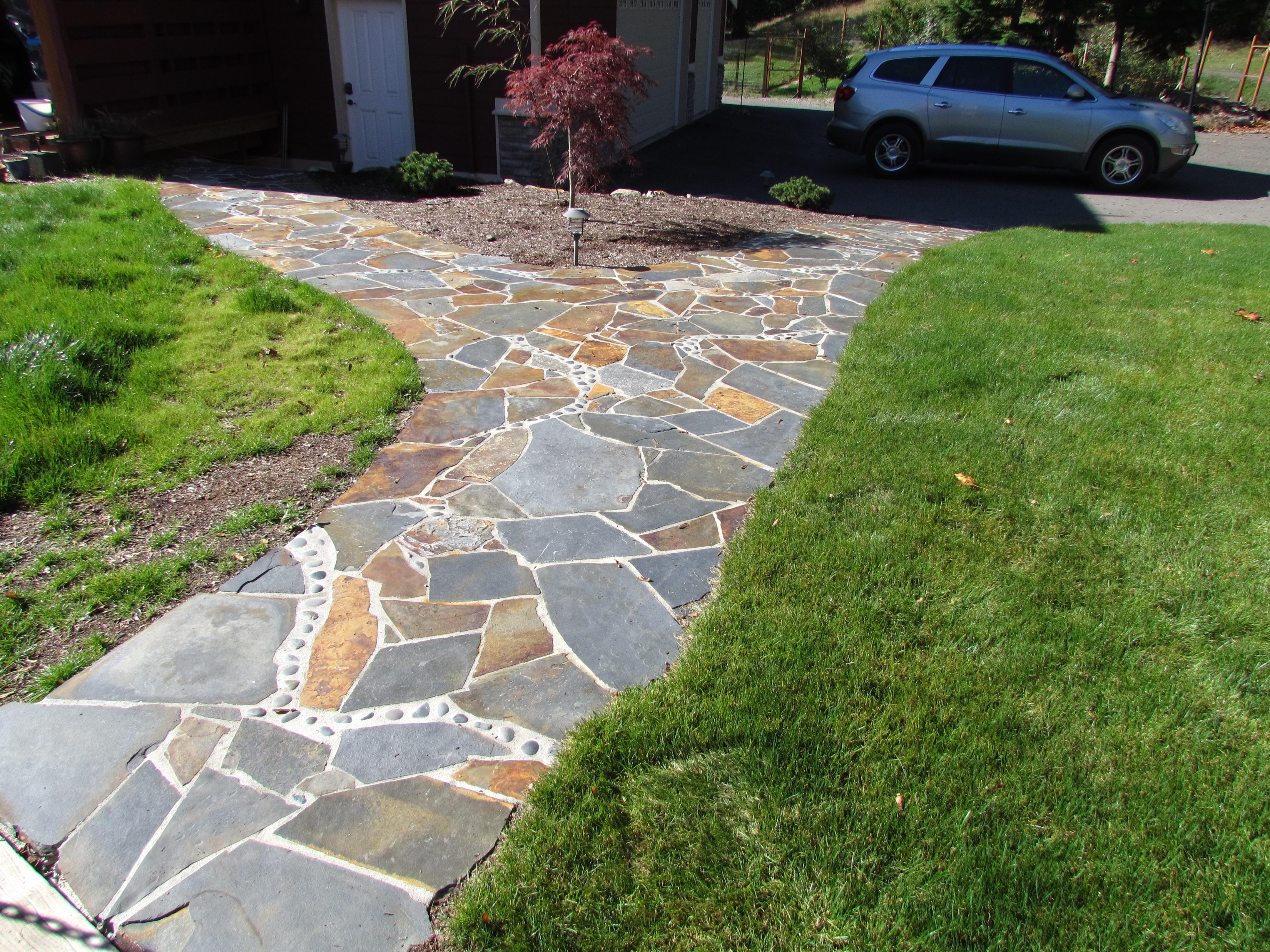 Custom Montana Flagstone pathway