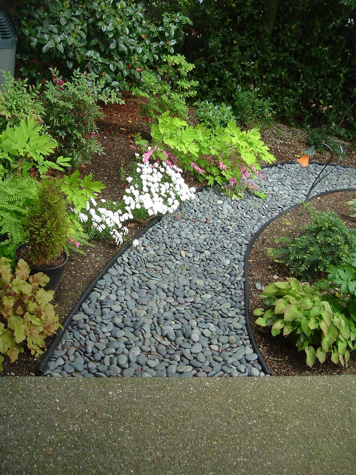 Decorative stone path