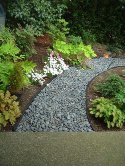 Decorative stone path