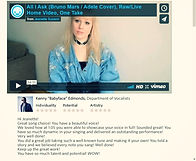 """Jeanette Susann, Review from Kenny """"Babyface"""" Edmonds for her unedited home video-version of """"All I Ask"""" (Adele/Bruno Mars)"""