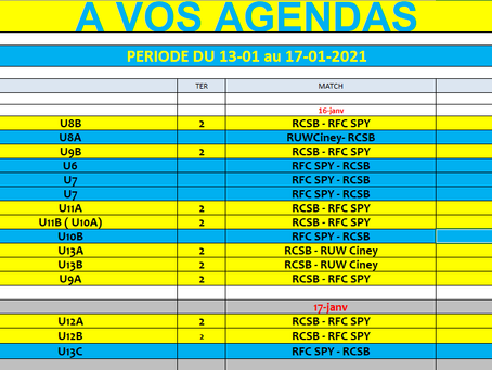 Programme du 16-17 janvier