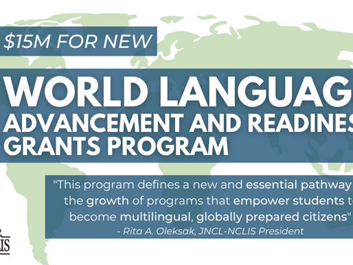 Congress Funds $15M for New World Languages Program