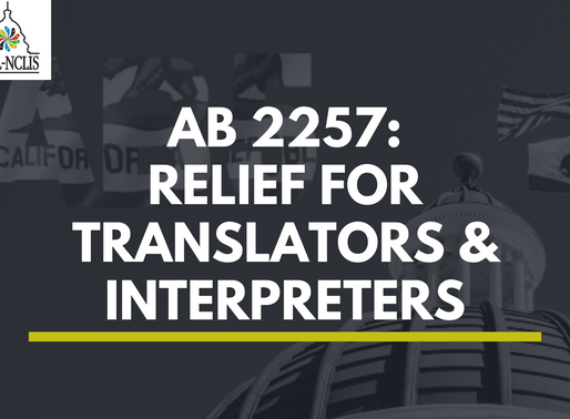 California's AB 2257 Provides Protections for Translators and Interpreters