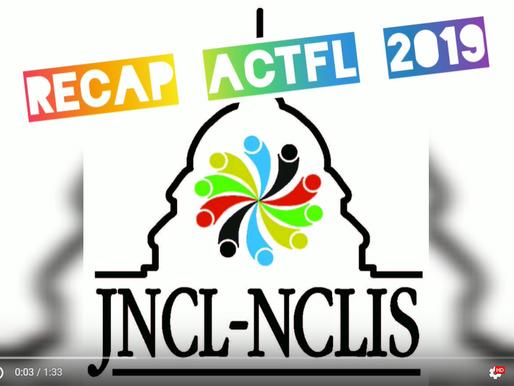 JNCL-NCLIS' Recap: ACTFL 2019!