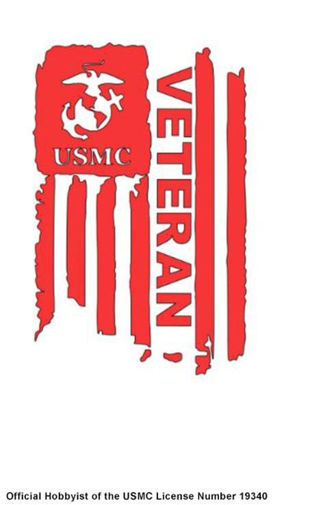 USMC VETERAN FLAG