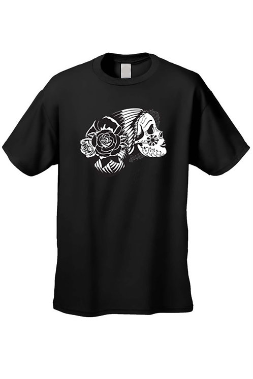 Men's T-Shirt Day of the Dead Sugar Skull La Katrina Dia De Los Muertos